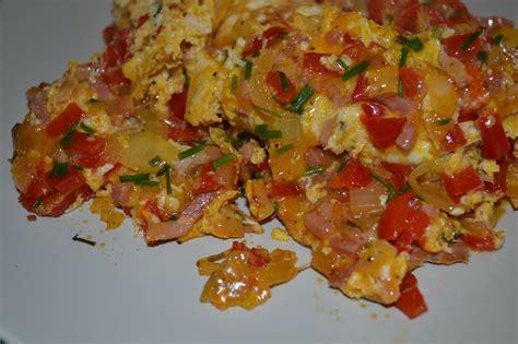 omelette poivrons lardons et ciboulette mes p tites