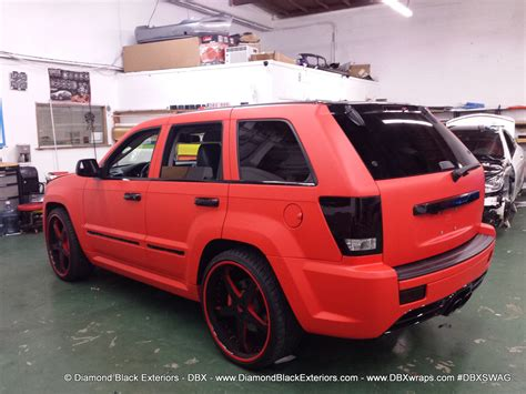 srt8 jeep jeep grand cherokee srt8 wrapped in matte red 3m by dbx