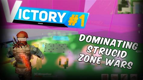 dominating strucid zone wars roblox youtube