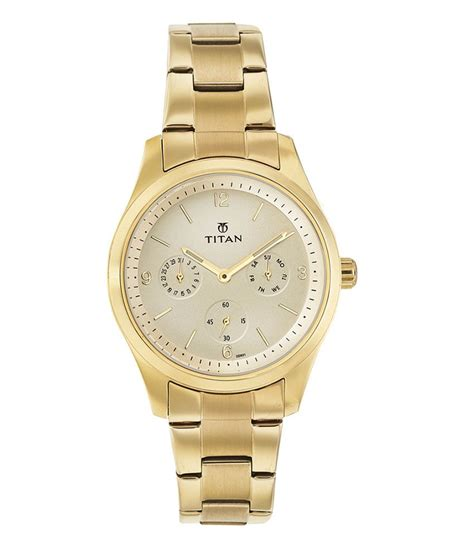 titan ladies gold plated watch 9962ym01 price in india
