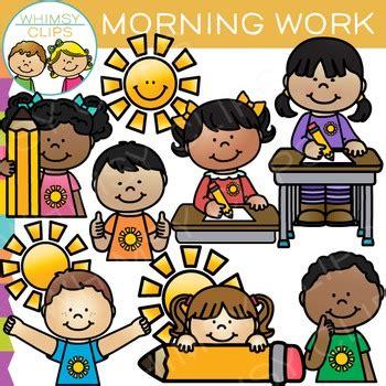 morning work clip art clip art drawing  kids