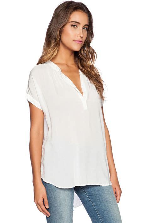 v neck blouses arrival white v neck sleeve oversize chiffon blouse