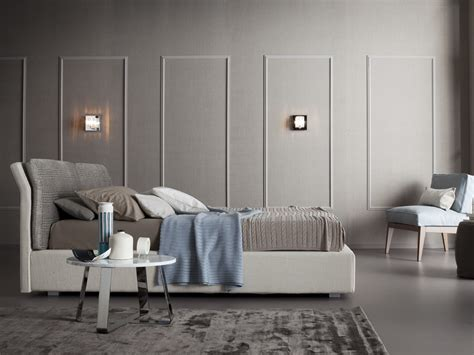 Pouf Camera Da Letto : Upholstered Double Bed Talia By Chaarme