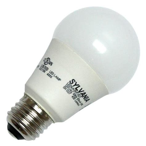 sylvania 72552 led6a19 f 827 rp a19 a line pear led