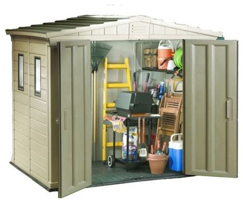 double door plastic apex shed 6x8 traditional sheds