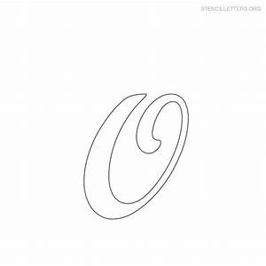 6 best images of cursive letters printables o fancy for Large cursive letter stencils