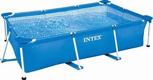 Frame Pool Rechteckig : intex frame pool family ii 300 x 200 x 75 cm ohne filterpumpe aufstellpool swimming pool ~ Frokenaadalensverden.com Haus und Dekorationen