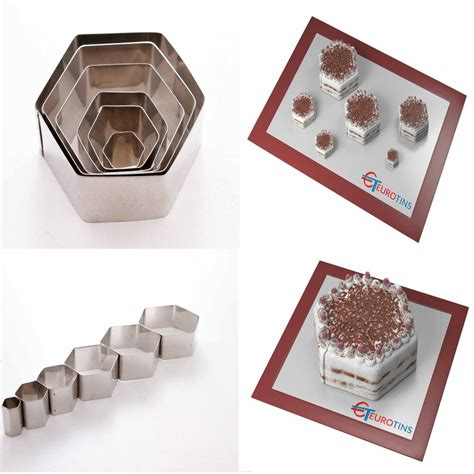 hexagon shape steel cookie cake fondant cutter  deep set