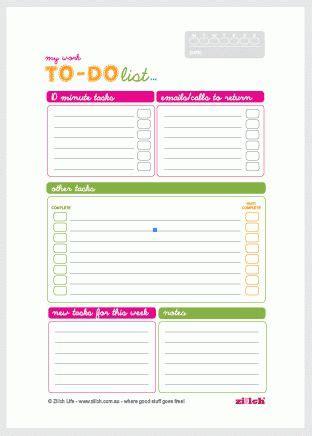 work   list template    list