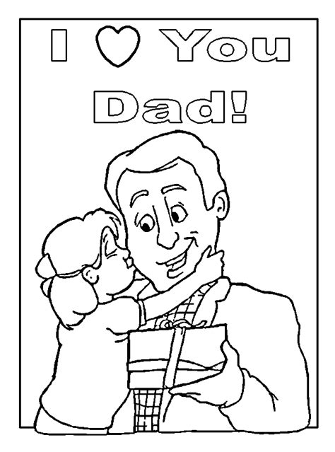 drawing coloring card  dad child coloring