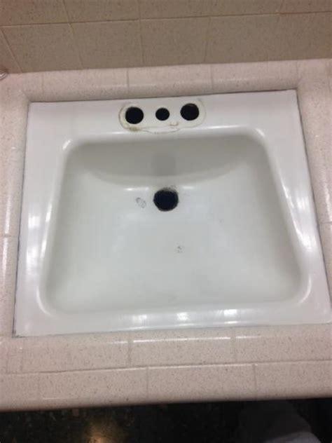 drop in bathroom sink replacement replacing bathroom sink doityourself community forums