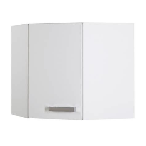 meuble haut cuisine blanc suny meuble d 39 angle haut de cuisine 60 cm chrome blanc