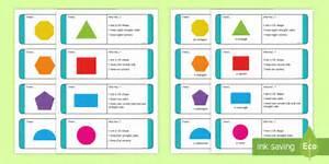 Ks1 2d Shape Riddle Loop Cards
