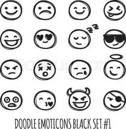 Emoji Black and White Coloring Pages