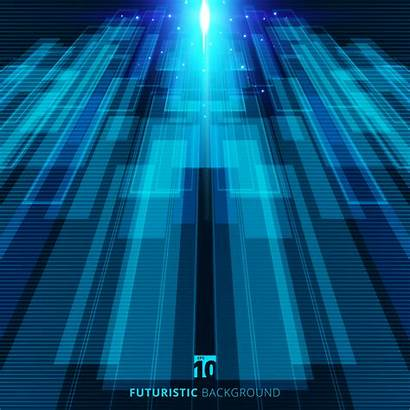 Virtual Digital Background Technology Futuristic Abstract Vector