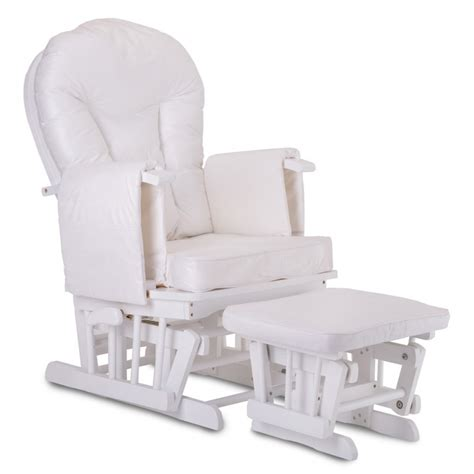 white chair with ottoman glider rocking chair