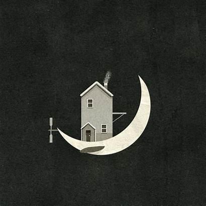 Night Animation Gifs Nancy Liang Breath Moon