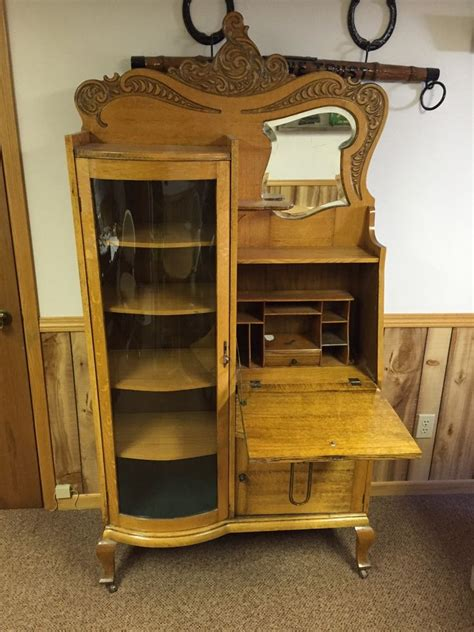 ebay desks for sale antique secretary desk with original key mirror curved