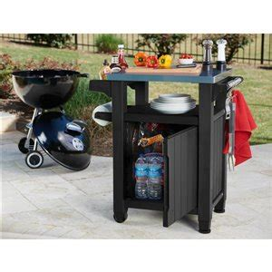 gal graphite grey grill prep  storage cart lowes