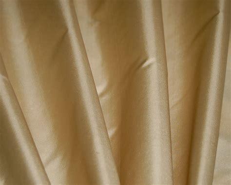 Custom Cream Silk Taffeta Drapes & Curtains