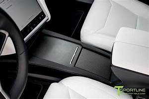 Tesla Model S and Model X Ultra White Interior, Center Console Flip Door and Sliding Tray in ...