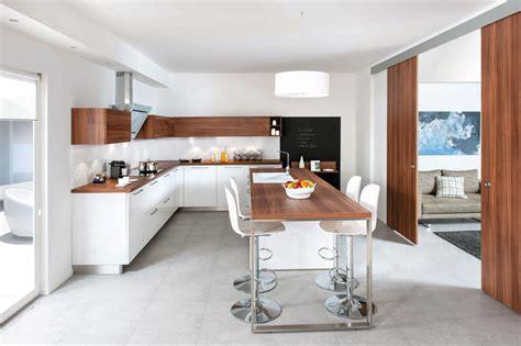cuisine americaine avec ilot cuisine moderne avec ilot central