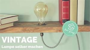Retro Lampe Holz : vintage lampe selber bauen regal selber bauen vintage regal lampe upcycling how to ~ Indierocktalk.com Haus und Dekorationen