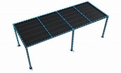 Pergola 7m Aluminium 9m Container Matte Charcoal