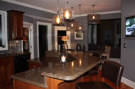 gray kitchen walls with cherry cabinets grey kitchen cherry cabinets tuckley home homes 8348
