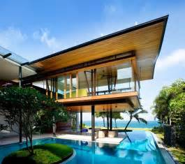 house with pools seafront home in singapore with underwater media room