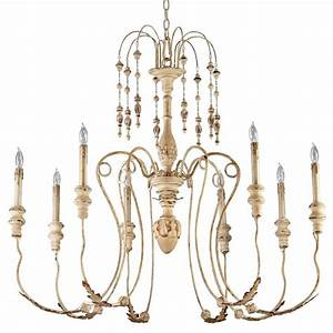 Maison french country antique white light chandelier