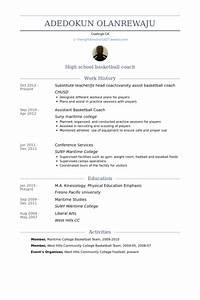 l39entraineur chef exemple de cv base de donnees des cv With basketball resume template