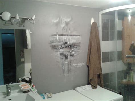 fresque murale salle de bain peinture murale pour la salle de bain th 232 me sur a 233 ro c 233 dric ink