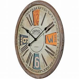 Wanduhr Vintage Metall : finebuy deko vintage wanduhr xxl 60 cm london ~ A.2002-acura-tl-radio.info Haus und Dekorationen