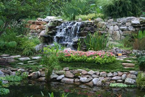 Unique Garden Ponds And Waterfalls #8 Small Backyard Pond