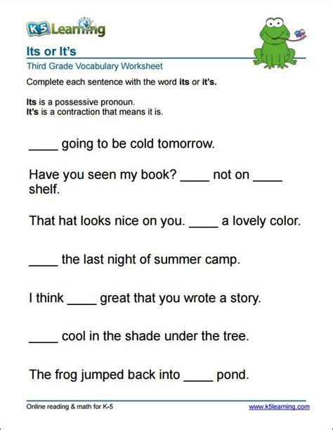 grade    worksheet vocabulary worksheets