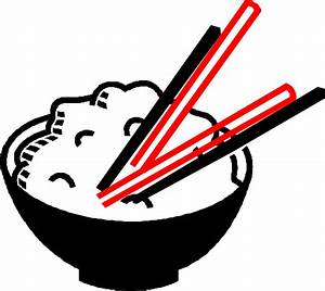 Black And White Rice Bowl Clipart - Clipart Suggest