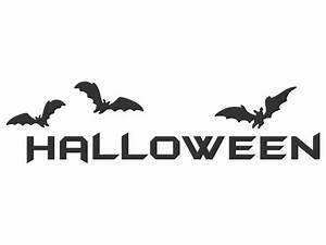 Halloween Kürbis Motive : wandtattoo halloween schriftzug ~ Markanthonyermac.com Haus und Dekorationen