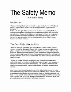 the safety memo With safety memo template