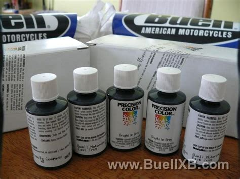 precision color paint buell graphite grey touch up paint 2 bottles new
