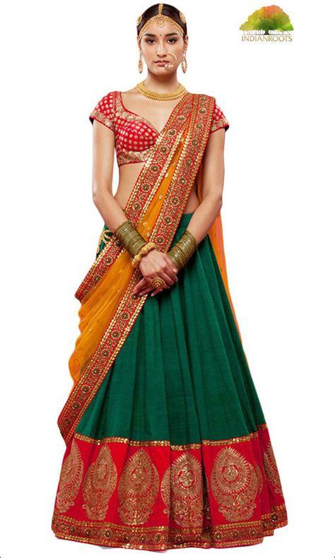 half sarees 11 stylishly traditional designs