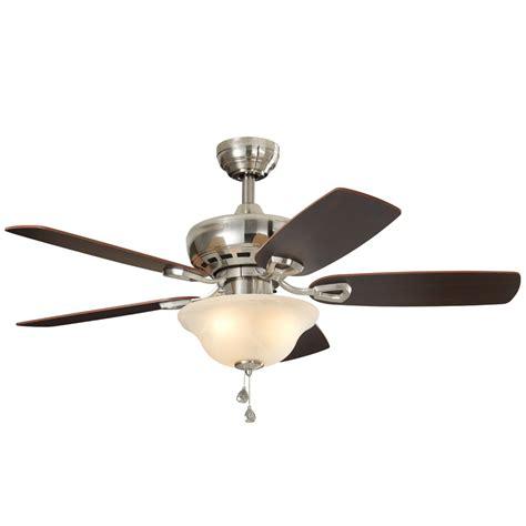 lowes harbor breeze fan shop harbor breeze sage cove 44 in satin nickel indoor