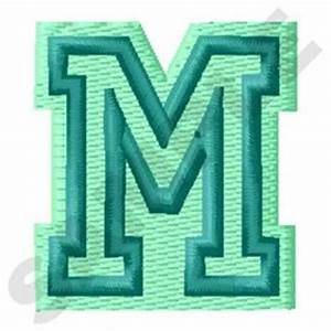jersey letter m embroidery designs machine embroidery With jersey embroidery letters