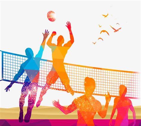 sitio de juegos de voleibol voleibol la gente jugando al