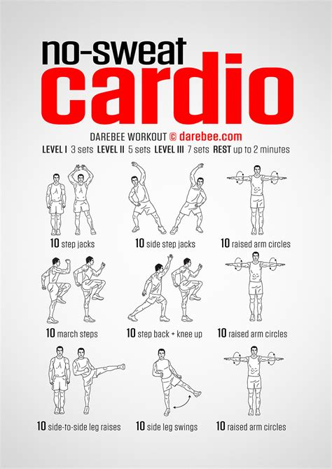 Bedroom Cardio Workout by No Sweat Cardio Workout