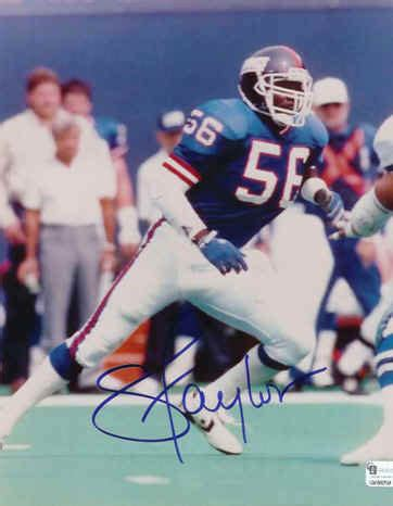 york giants lawrence taylor linebacker signed picture