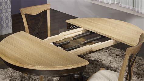 table ronde pied central en ch 234 ne massif de style louis philippe diametre 120 2 allonges de 40