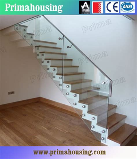 customized tempered glass interior stair railing indoor glass stair railings for staircase glass railing