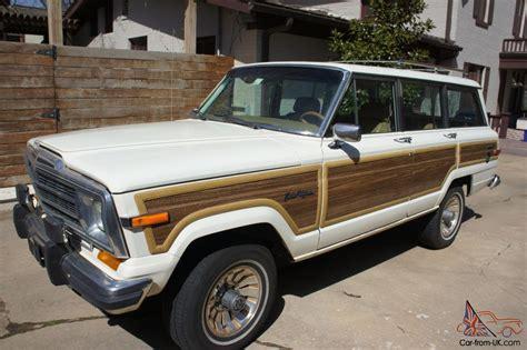 wood panel jeep 1987 jeep grand wagoneer white with wood paneling