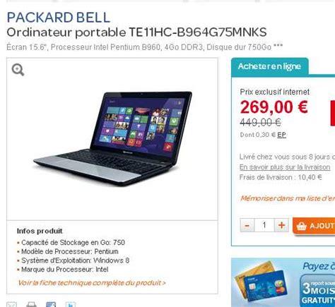 ordinateur bureau pas cher carrefour ordinateur portable à moins de 200 euros